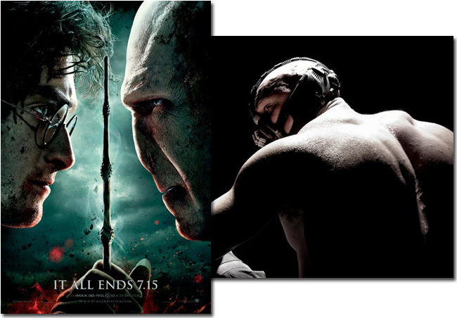Will the first teaser trailer for The Dark Knight Rises appear before Harry Potter and the Deathly Hallows: Part 2 starting on July 15, 2011