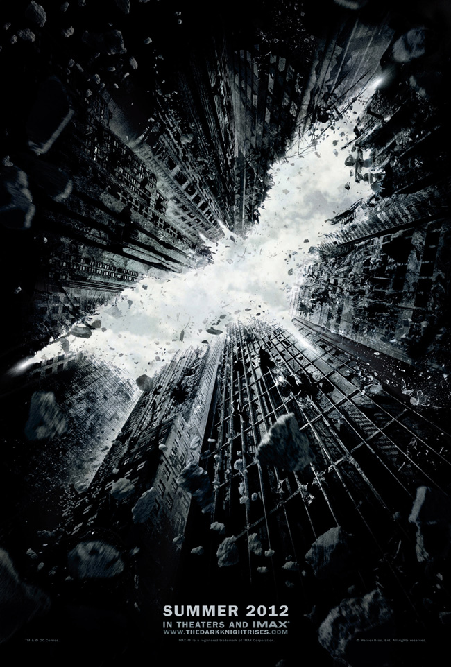 The first official teaser poster for The Dark Knight Rises released on July 11, 2011