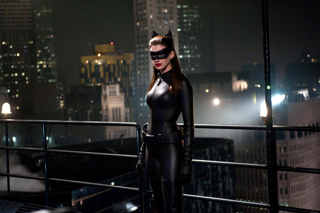 Anne Hathaway as Selina Kyle/Catwoman in The Dark Knight Rises