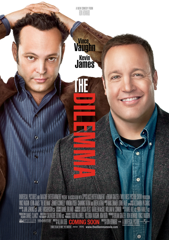 The movie poster for The Dilemma with Vince Vaughn from director Ron Howard
