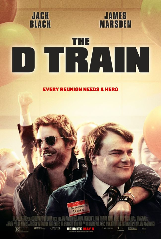 The movie poster for The D Train starring Jack Black and James Marsden