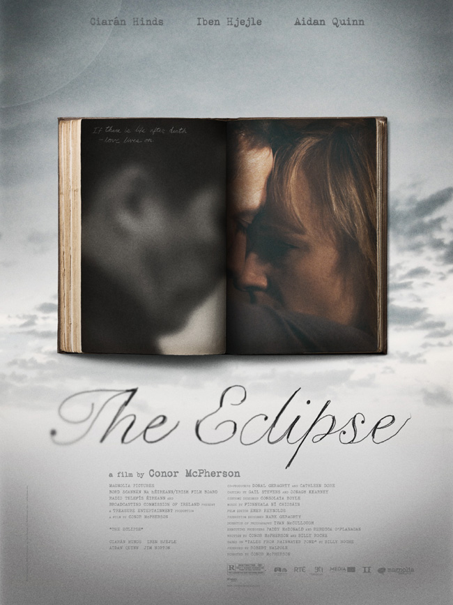 The movie poster for The Eclipse with Ciaran Hinds