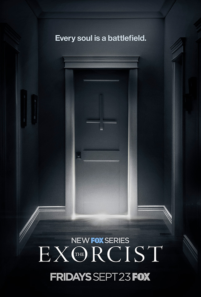 The movie poster for The Exorcist on FOX starring Geena Davis