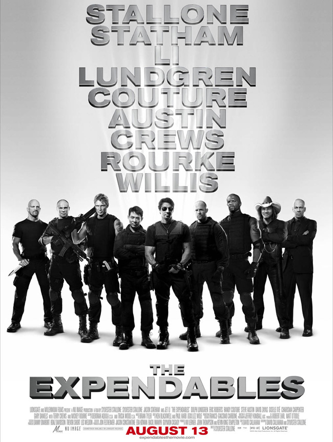 The Expendables movie poster with Sylvester Stallone and Jet Li