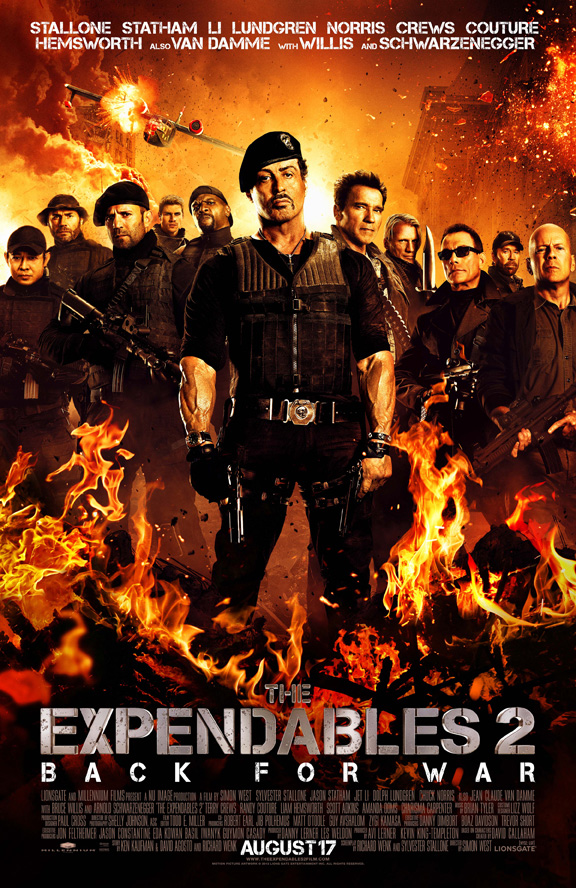 The Expendables 2 with Sylvester Stallone hits theatres on Aug. 17, 2012