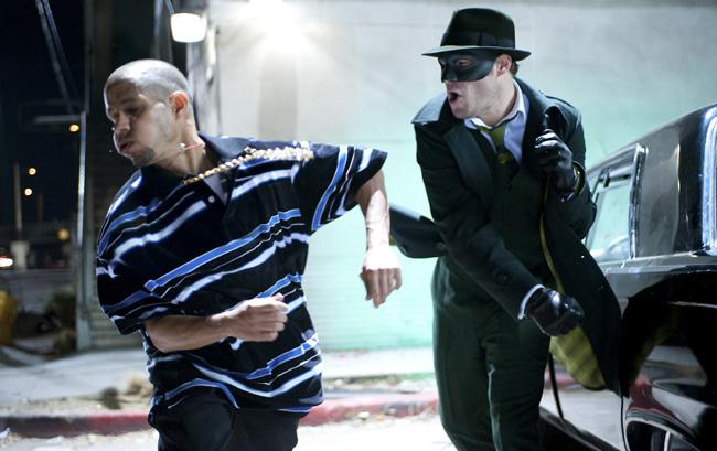Seth Rogen (right) in The Green Hornet