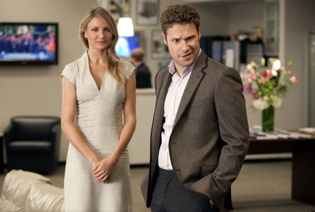 Cameron Diaz (left) and Seth Rogen (right) in The Green Hornet