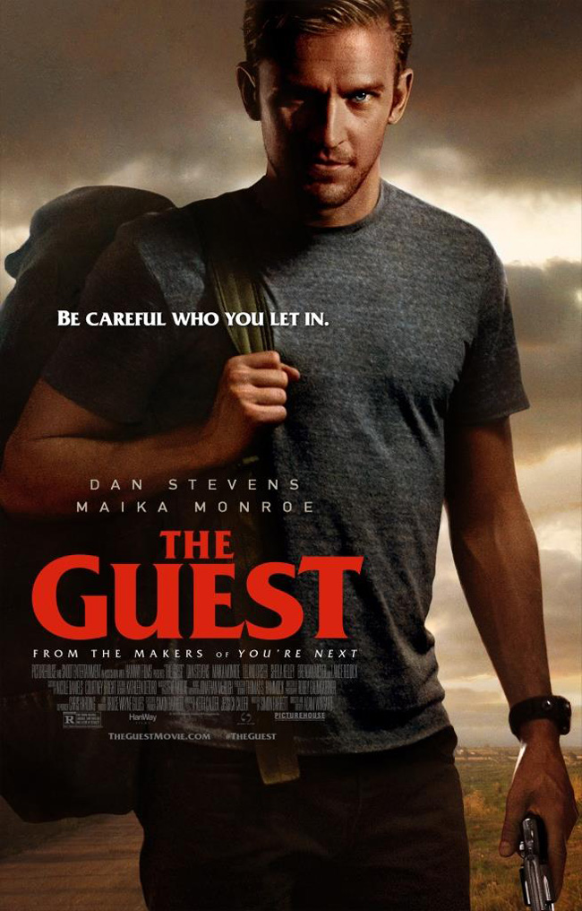 The movie poster for The Guest starring Dan Stevens