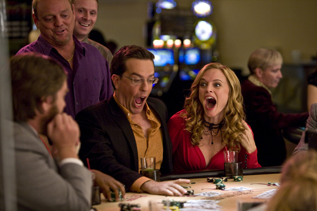 Ed Helms as Stu and Heather Graham as Jade in The Hangover