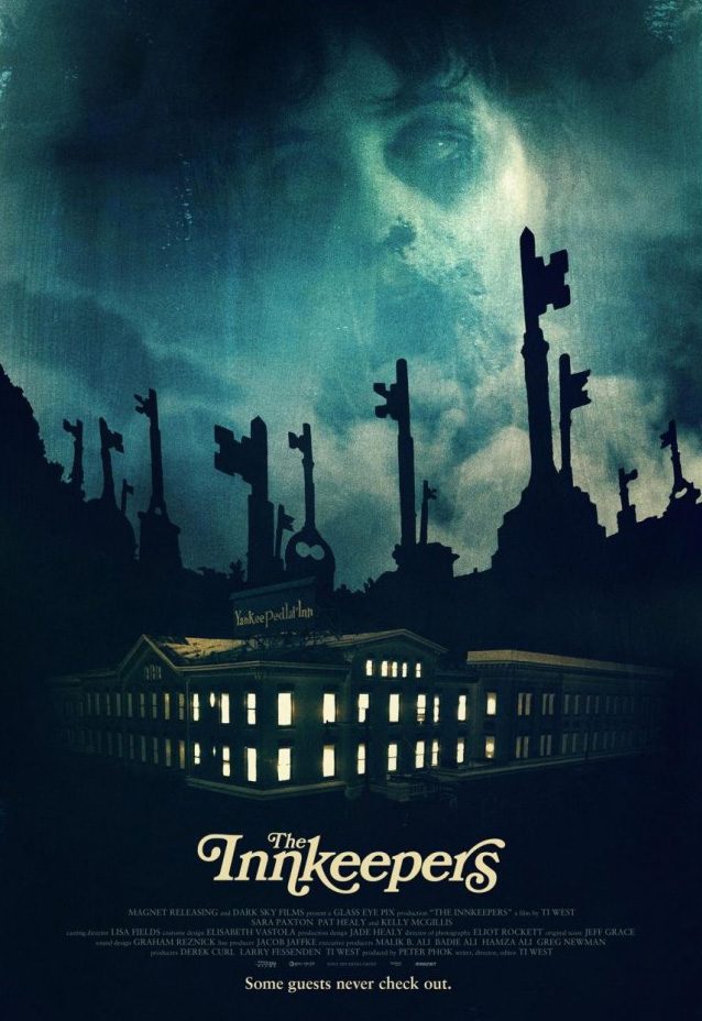 The movie poster for The Innkeepers starring Sara Paxton