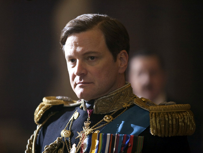 Colin Firth as King George VI in The King's Speech