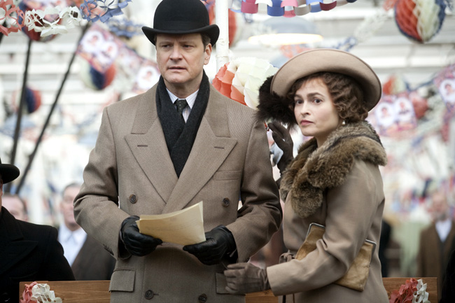 Colin Firth (left) and Helena Bonham Carter in The King's Speech