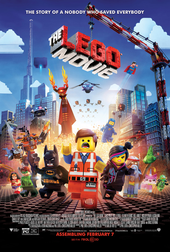 The movie poster for The LEGO Movie starring Chris Pratt and Will Arnett