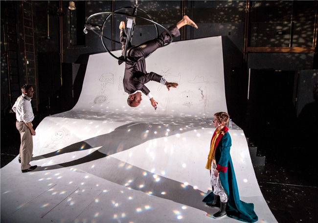 Kareem Bandealy and Amelia Hefferon in the Lookingglass Theatre's The Little Prince