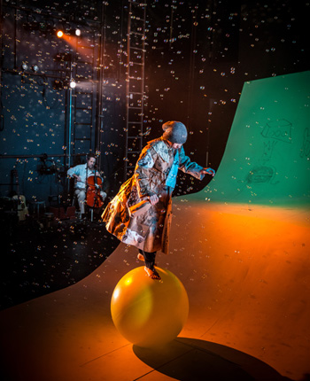 Lauren Hirte in the Lookingglass Theatre's The Little Prince