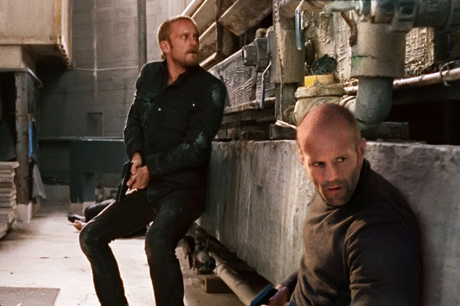 Ben Foster (left) and Jason Statham in The Mechanic