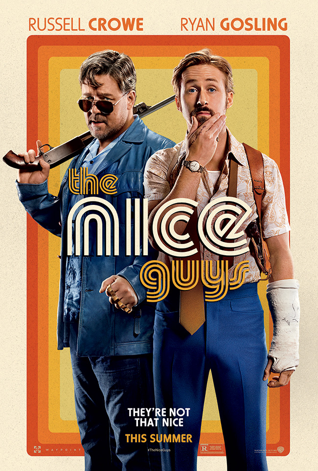 The movie poster for The Nice Guys starring Ryan Gosling and Russell Crowe