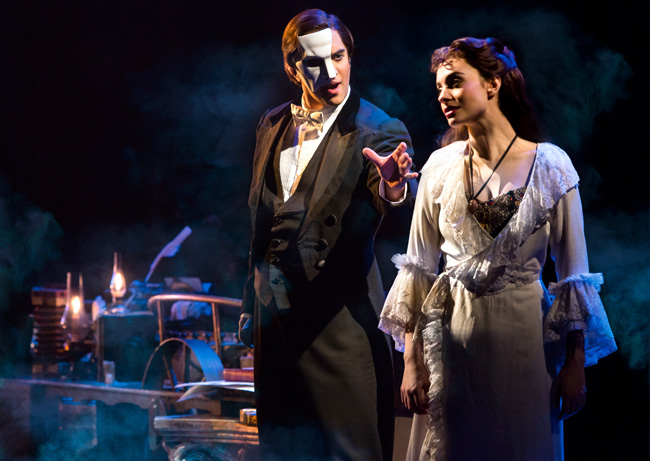 Cooper Grodin and Julia Udine in The Phantom of the Opera