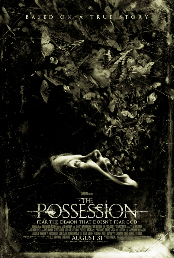 The Possession movie poster starring Jeffrey Dean Morgan from horror master Sam Raimi