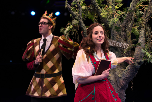 Alex Goodrich and Dara Cameron in The Princess and the Pea at The Marriott Theatre