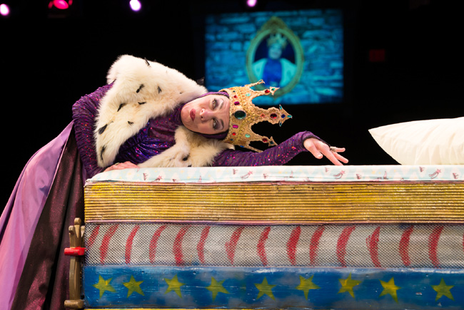 Susan Moniz as Queen Evermean in The Princess and the Pea at The Marriott Theatre