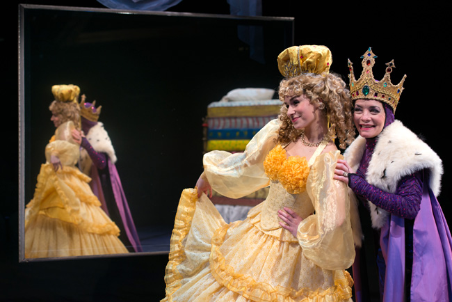 Samantha Pauly and Susan Moniz in The Princess and the Pea at The Marriott Theatre