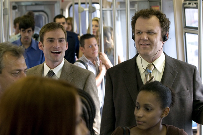Seann William Scott (left) and John C. Reilly in The Promotion