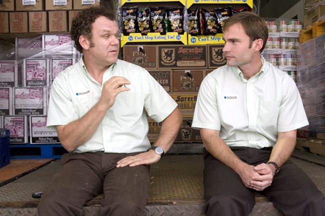 John C. Reilly (left) and Seann William Scott in The Promotion