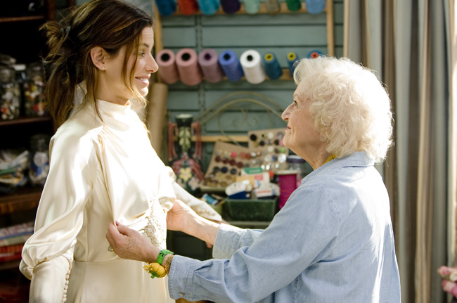 Sandra Bullock (left) and Betty White in The Proposal