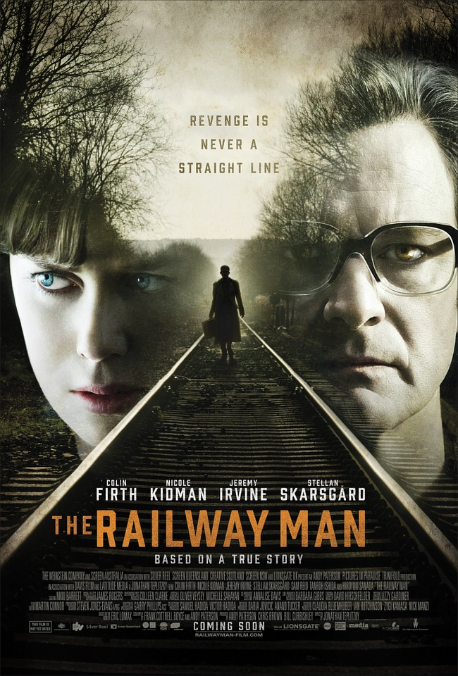 The movie poster for The Railway Man starring Colin Firth and Nicole Kidman