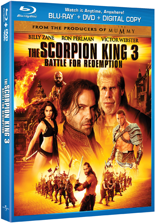 The Scorpion King 3: Battle For Redemption will be released on Blu-ray on Jan. 10, 2012