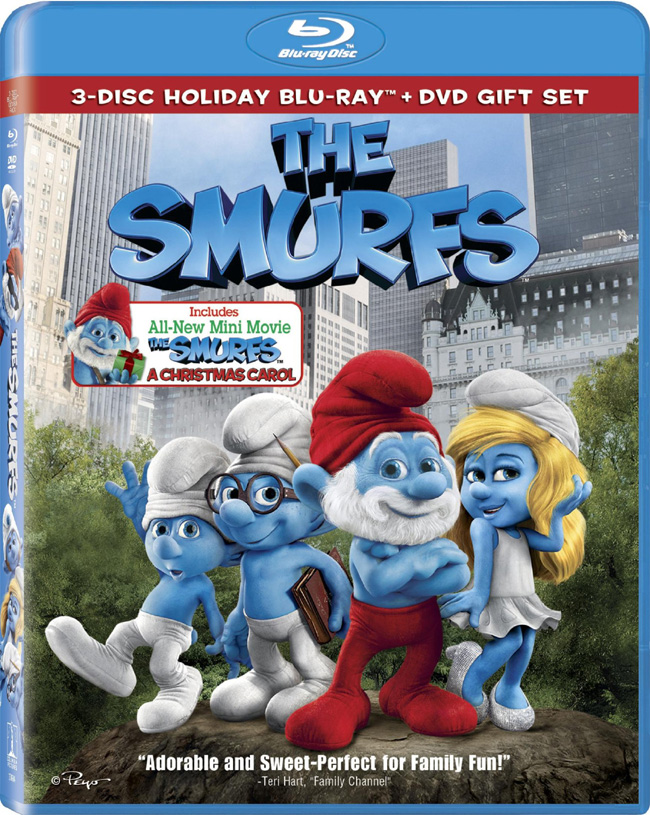The Smurfs with Katy Perry and Neil Patrick Harris was released on Dec. 2, 2011 on Blu-ray and DVD