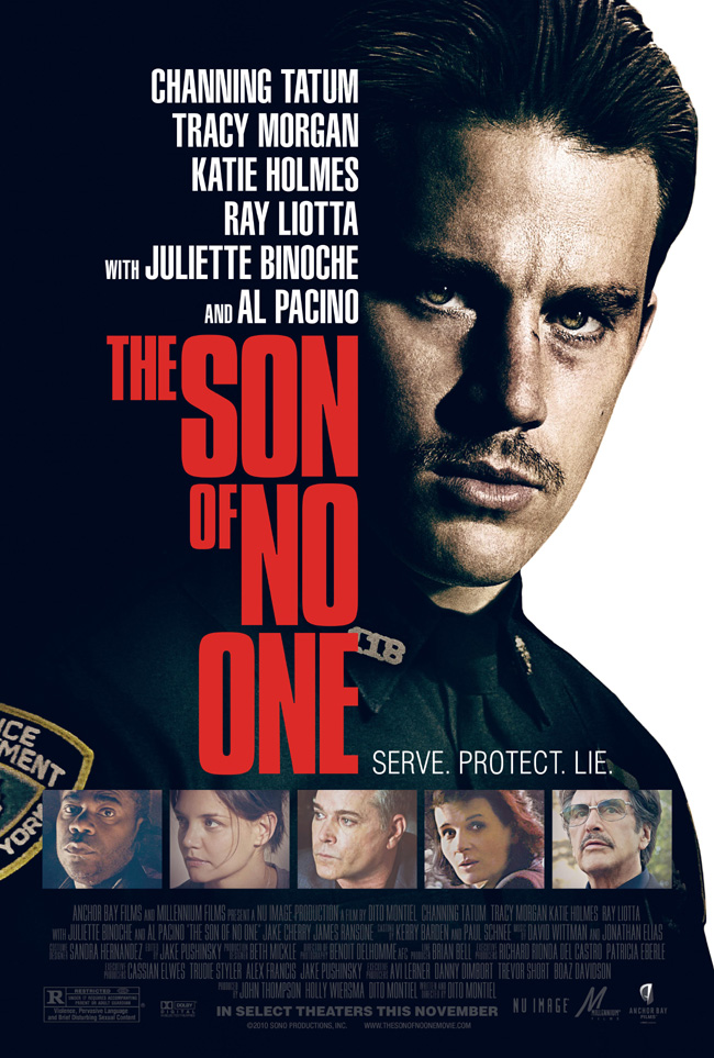 The movie poster for The Son of No One with Channing Tatum, Al Pacino and Katie Holmes