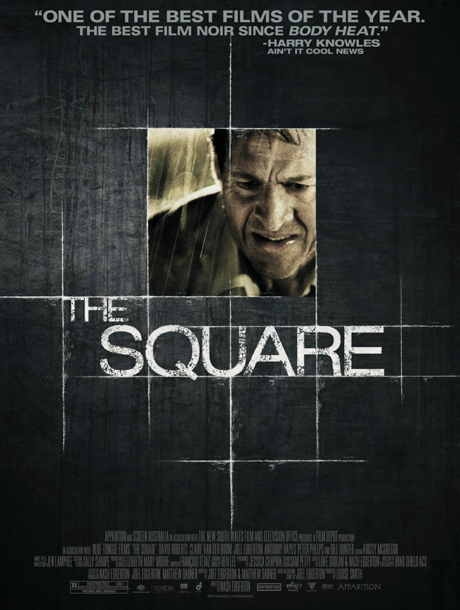 The movie poster for The Square from Nash and Joel Edgerton