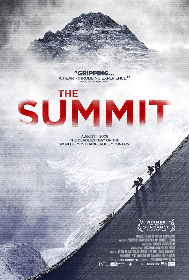 The movie poster for the Sundance Film Festival winner The Summit
