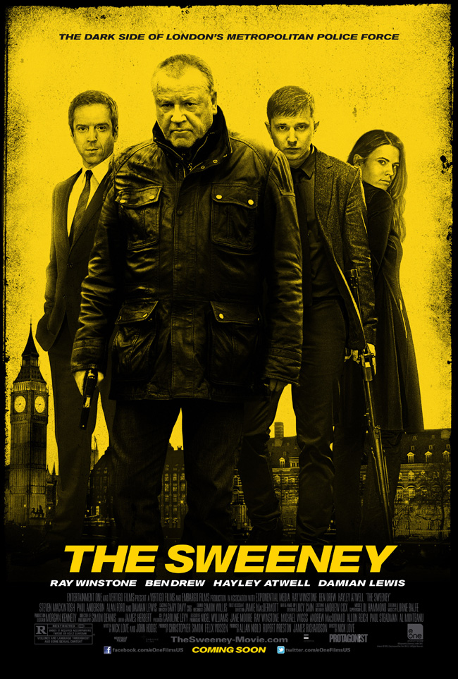 The movie poster for The Sweeney starring Ray Winstone