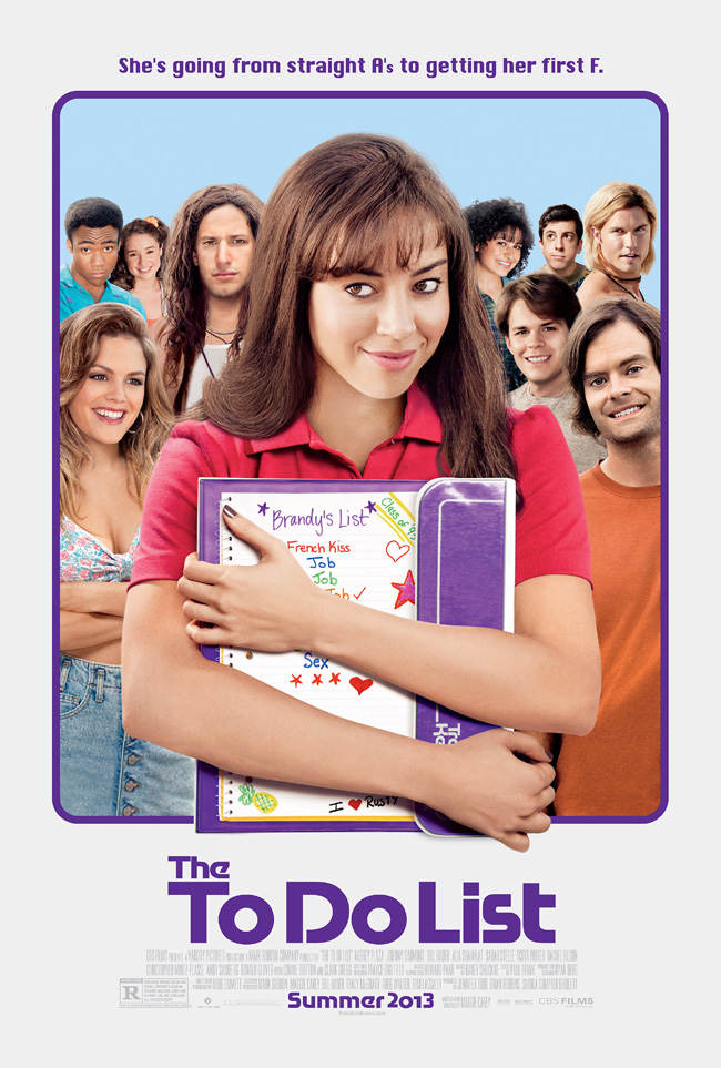 The movie poster for The To Do List starring Aubrey Plaza with Andy Samberg