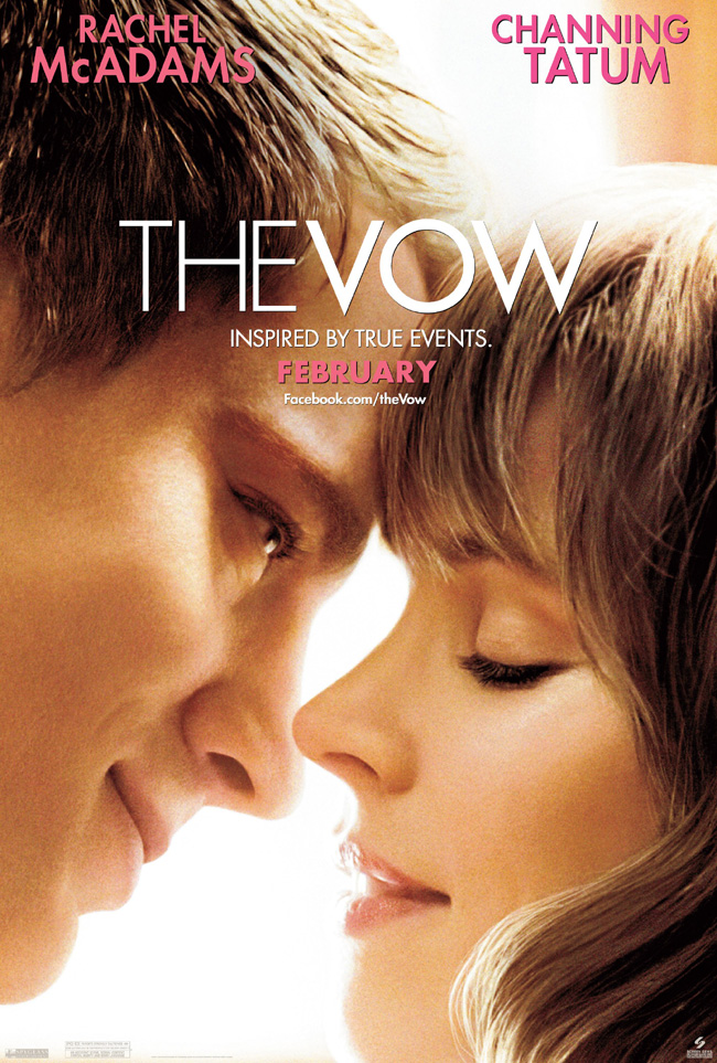 The movie poster for The Vow starring Rachel McAdams and Channing Tatum