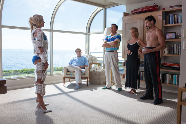 Katarina Cas, Jonah Hill, Leonardo DiCaprio, Margot Robbie and Jon Bernthal in The Wolf of Wall Street