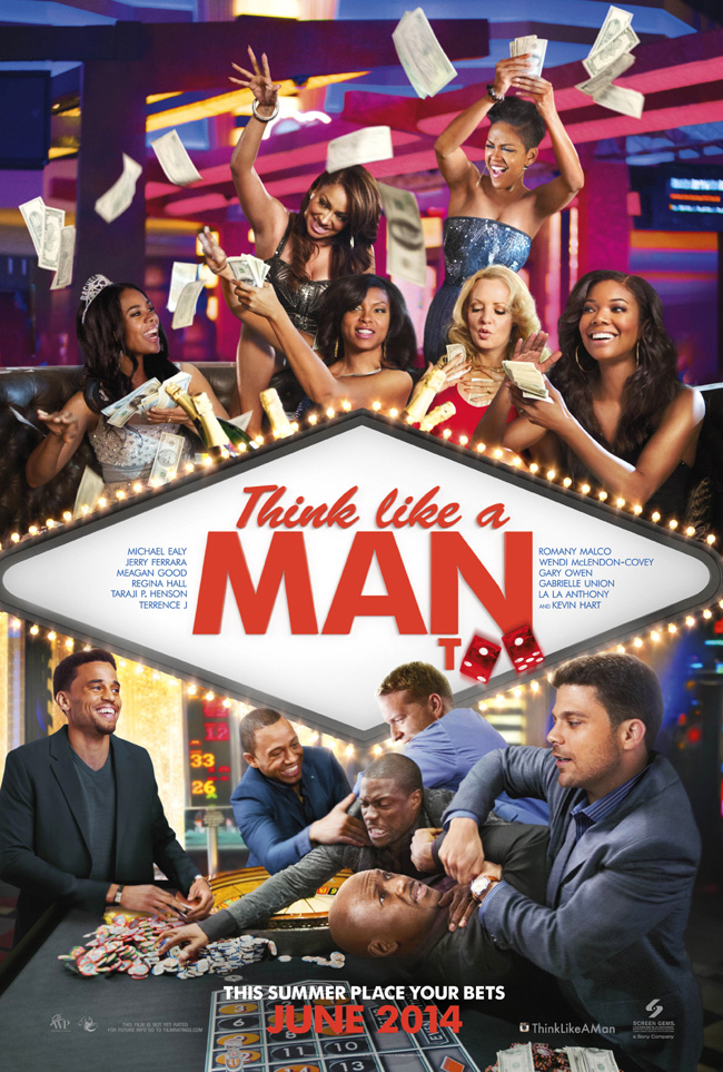 The movie poster for Think Like a Man Too starring Kevin Hart and Taraji P. Henson
