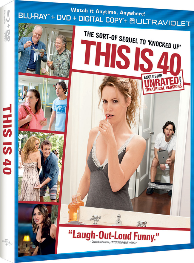 This is 40 came to Blu-ray and DVD combo pack on March 22, 2013