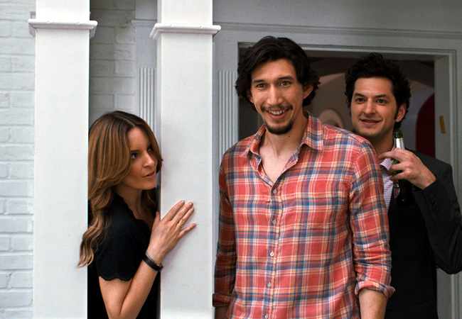 Tina Fey, Adam Driver and Ben Schwartz in This is Where I Leave You