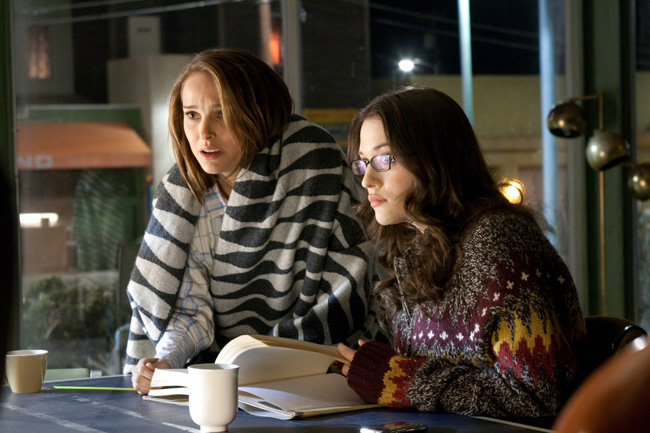 Natalie Portman (left) and Kat Dennings in Thor