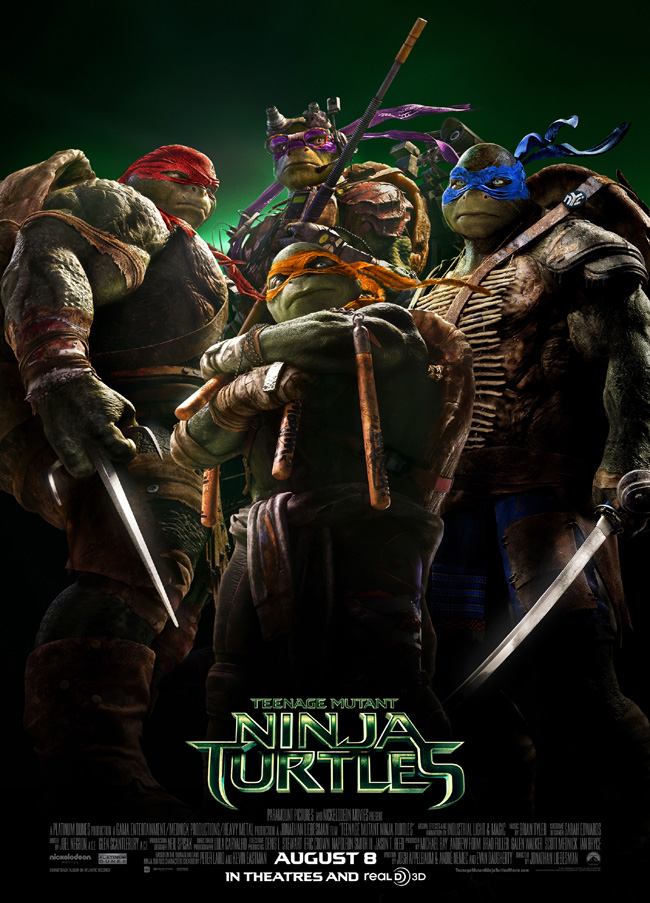 The movie poster for Teenage Mutant Ninja Turtles starring Megan Fox and Will Arnett
