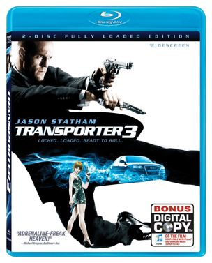Transporter 3 was released on Blu-Ray on March 10th, 2009.