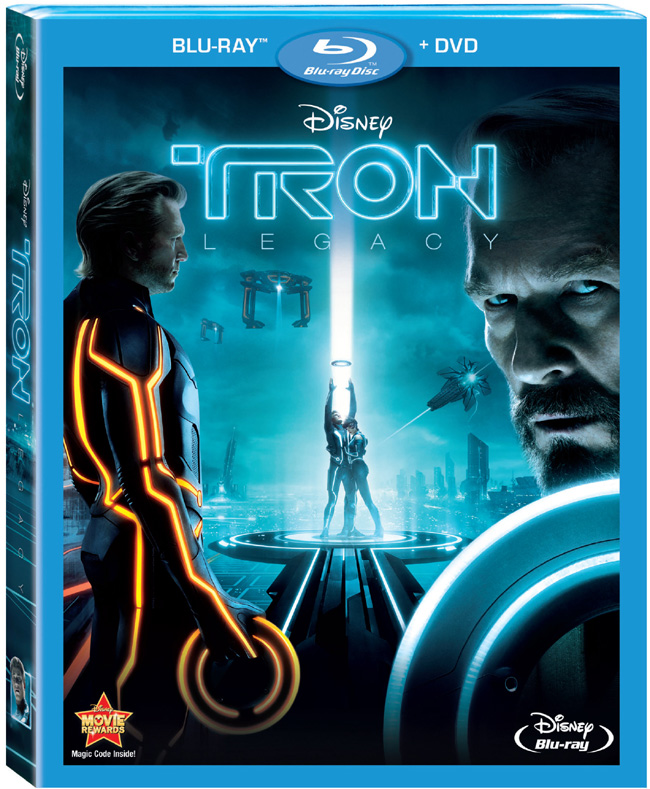 The Blu-ray and DVD combo pack of TRON: Legacy with Jeff Bridges, Garrett Hedlund and Olivia Wilde