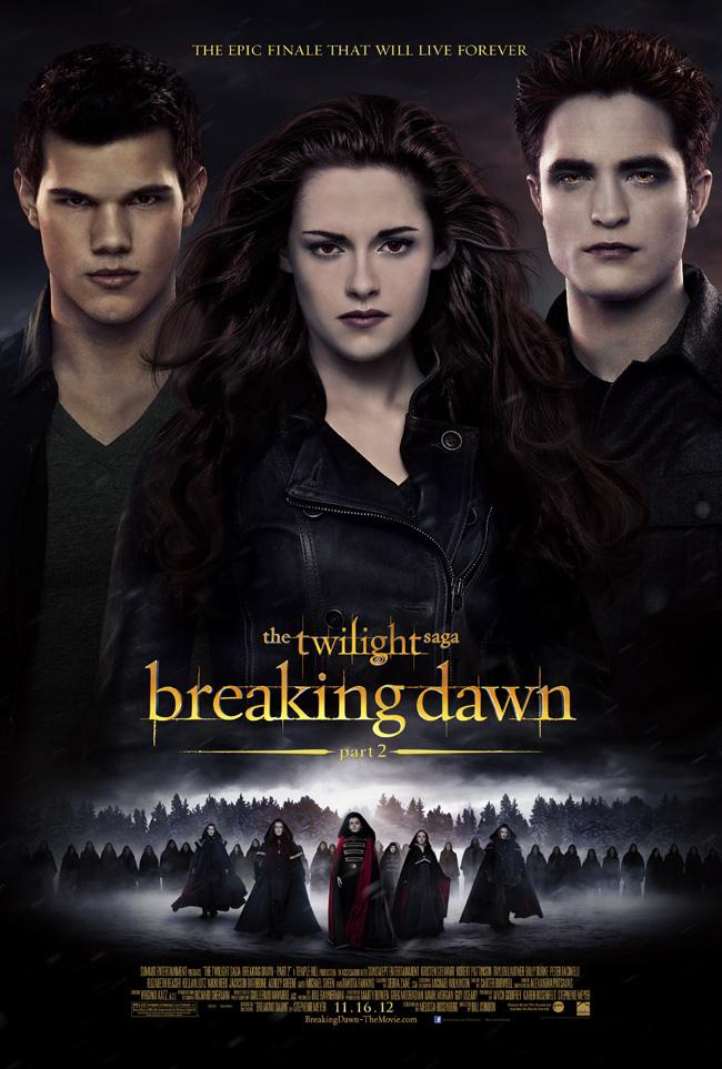The movie poster for The Twilight Saga: Breaking Dawn – Part 2 with Kristen Stewart