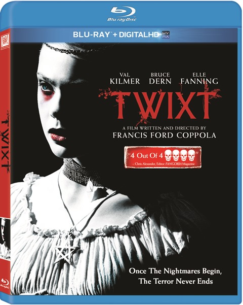 Twixt was released on Blu-ray and DVD on July 23, 2013
