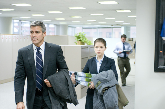 George Clooney (left) and Anna Kendrick in Up in the Air