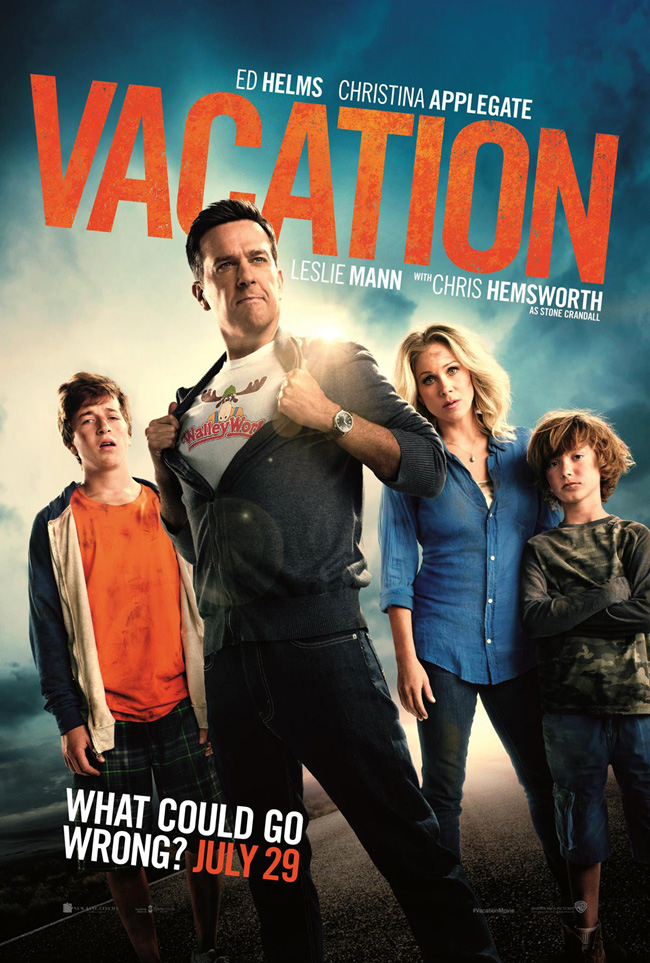 The movie poster for Vacation with Ed Helms and Christina Applegate